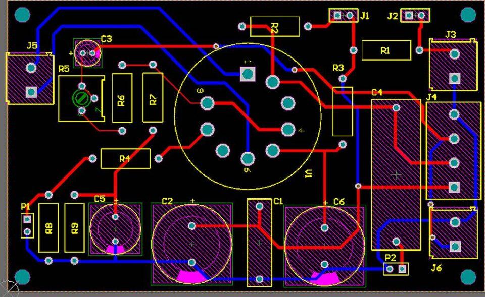 6E5P sperimentale PCB