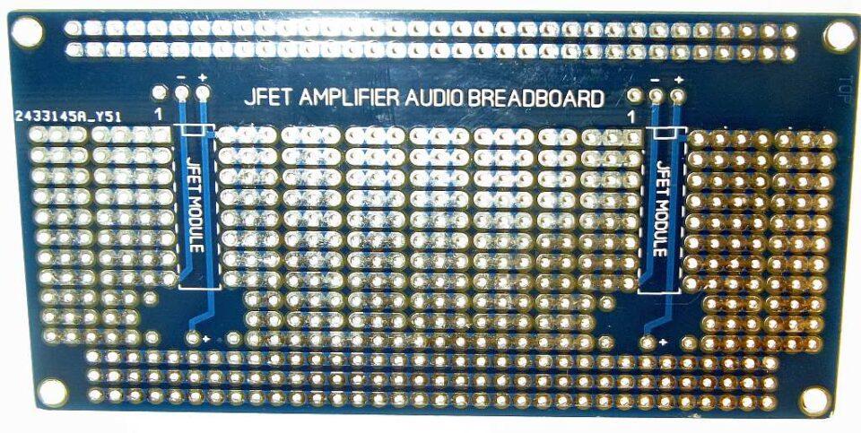 Protoboard JFET stampato lato A