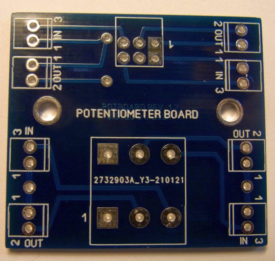 Basetta per potenziometro volume stereo lato A