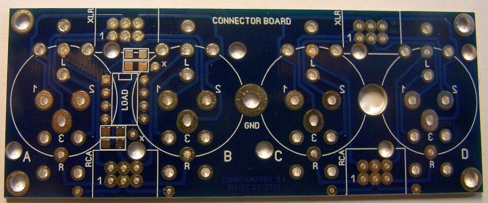 Scheda connettori ingressi audio lato A