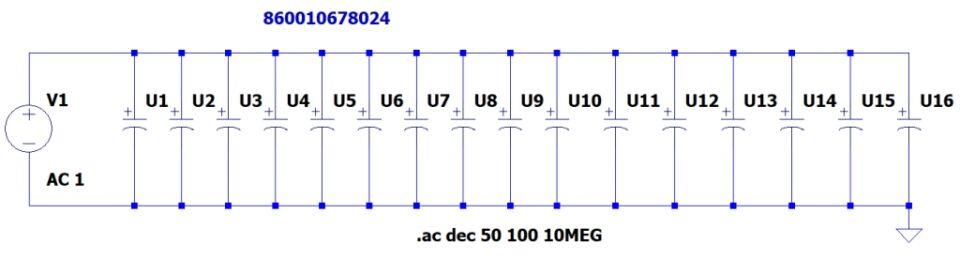 Capacitor Bank 16 x 1000u 50V