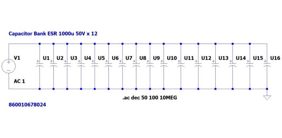 Cap Bank 1000u 50V x 12 cond schema