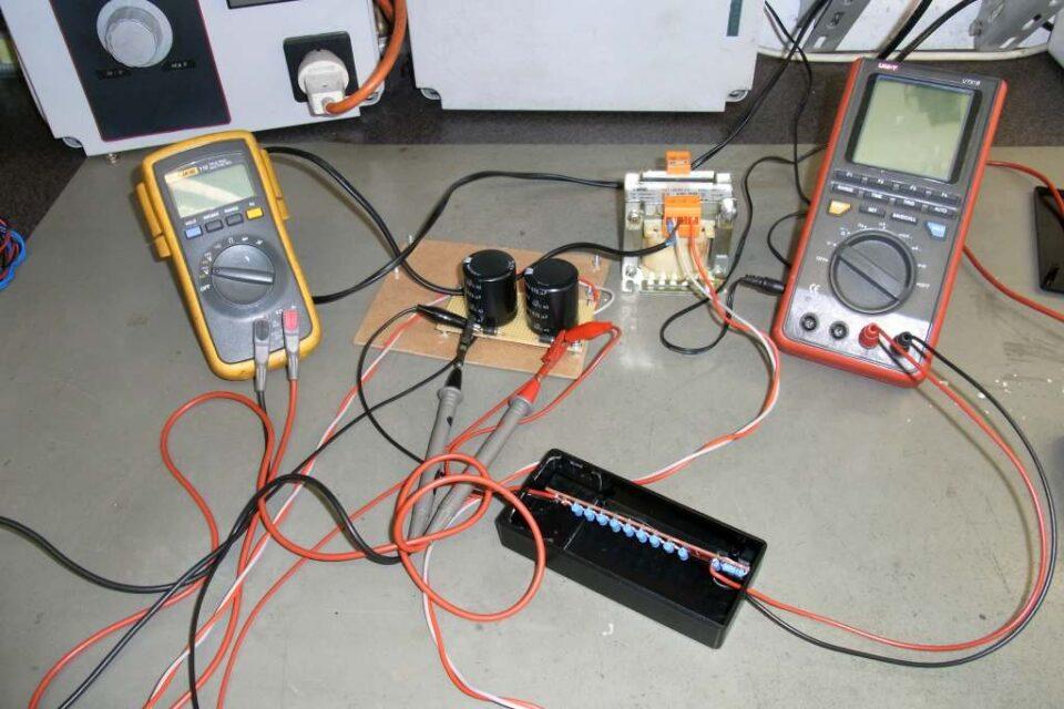 Setup test sonda HV