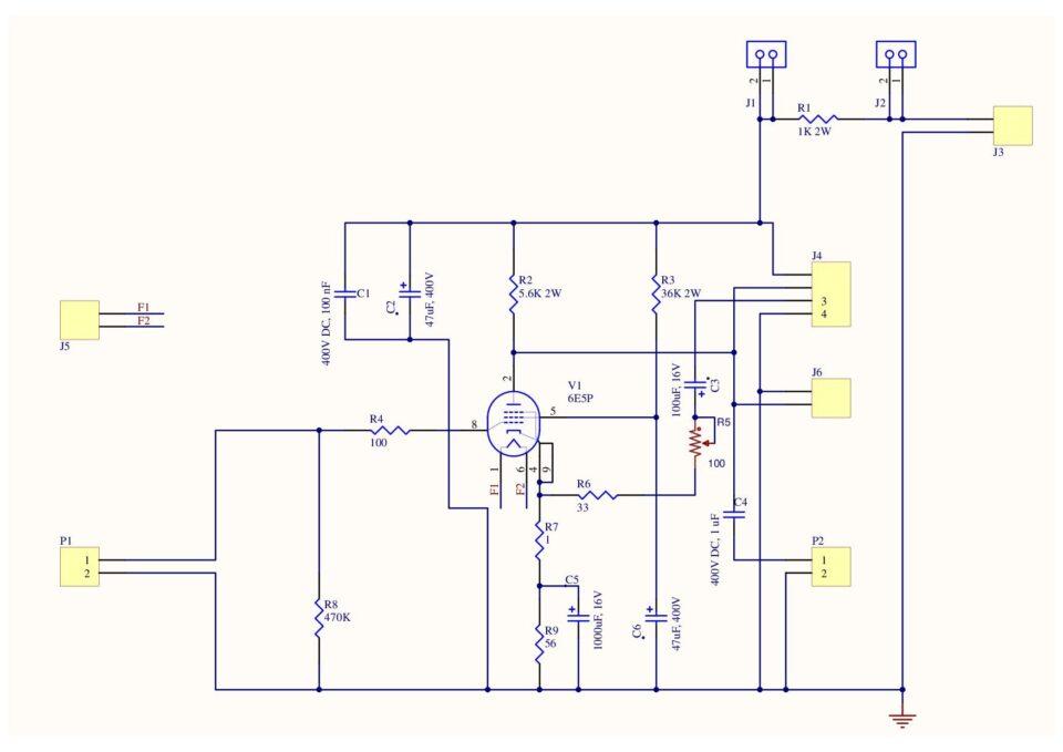 6E5P Sperimentale schema elettrico finale